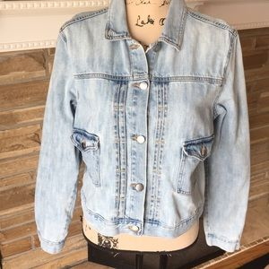 Gap Drop Pocket Rosewood Wash Denim Jacket